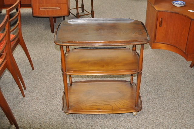 Item #K1788 Three Tier Oak Trolley c.1940s