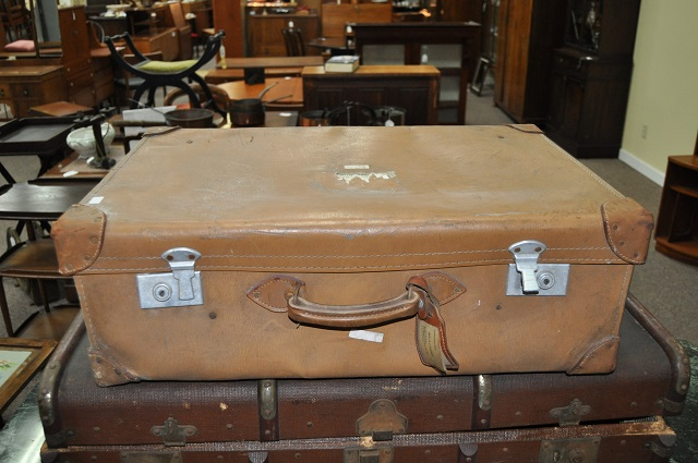 Item #K29 Vintage Liner Luggage c.1930s