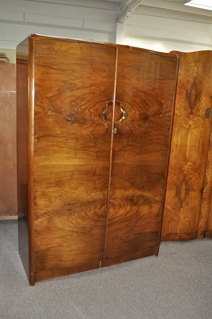 Item #L6730 Vintage Walnut Armoire