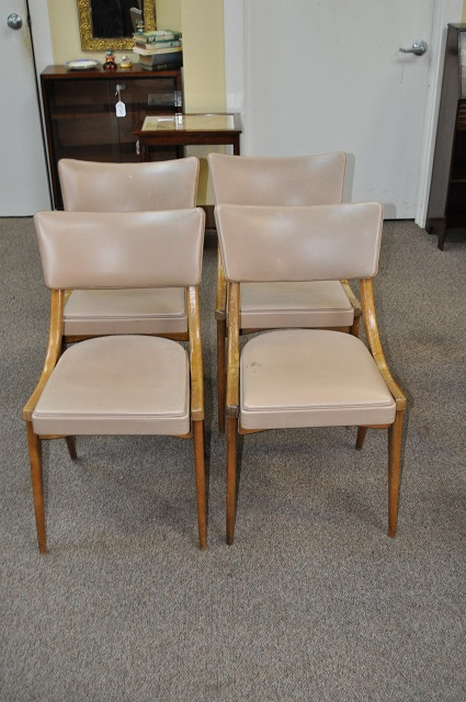 Item #L1012 Set of Four Deco Dining Chairs c.1920s