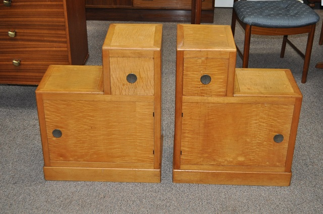 Item #L171 Pair of Maple Nightstands c.1940s
