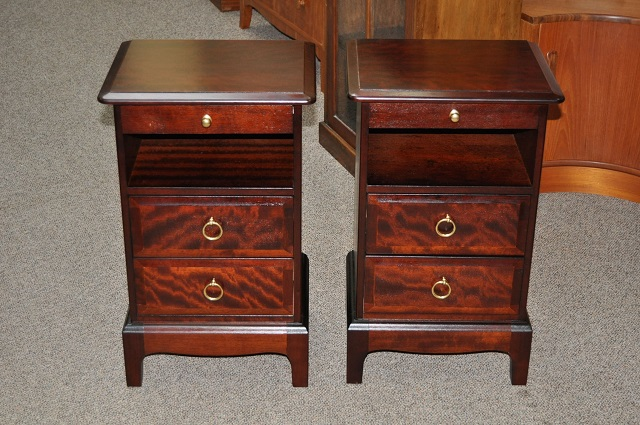 "Item #L2154 Pair of Vintage Nightstands by ""Stag"" c.1980"