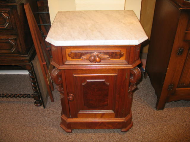 HW64 American Accent Victorian Cabinet Marble Top