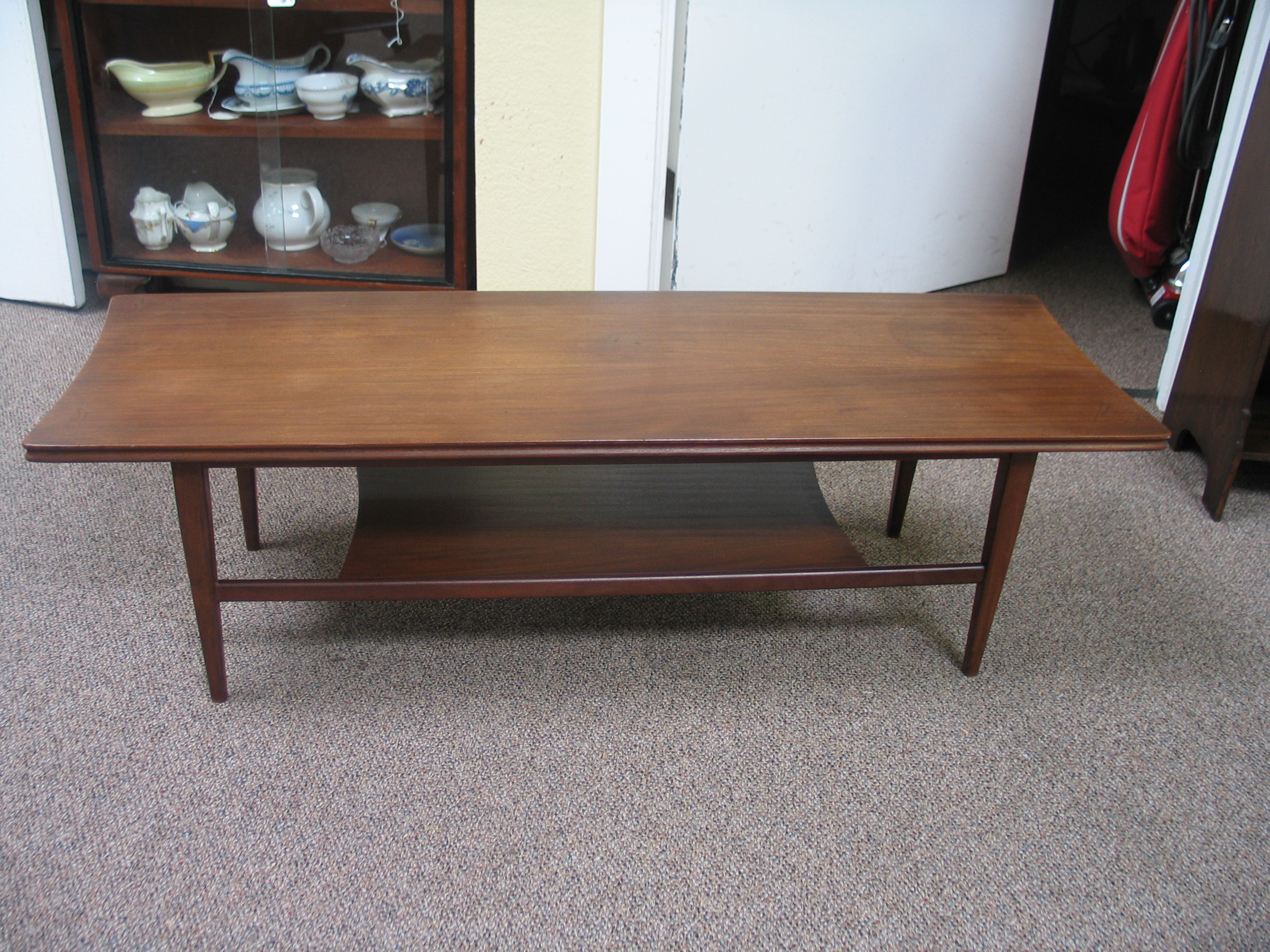 L2091 Mahogany Coffee Table Two Tier C.1960s