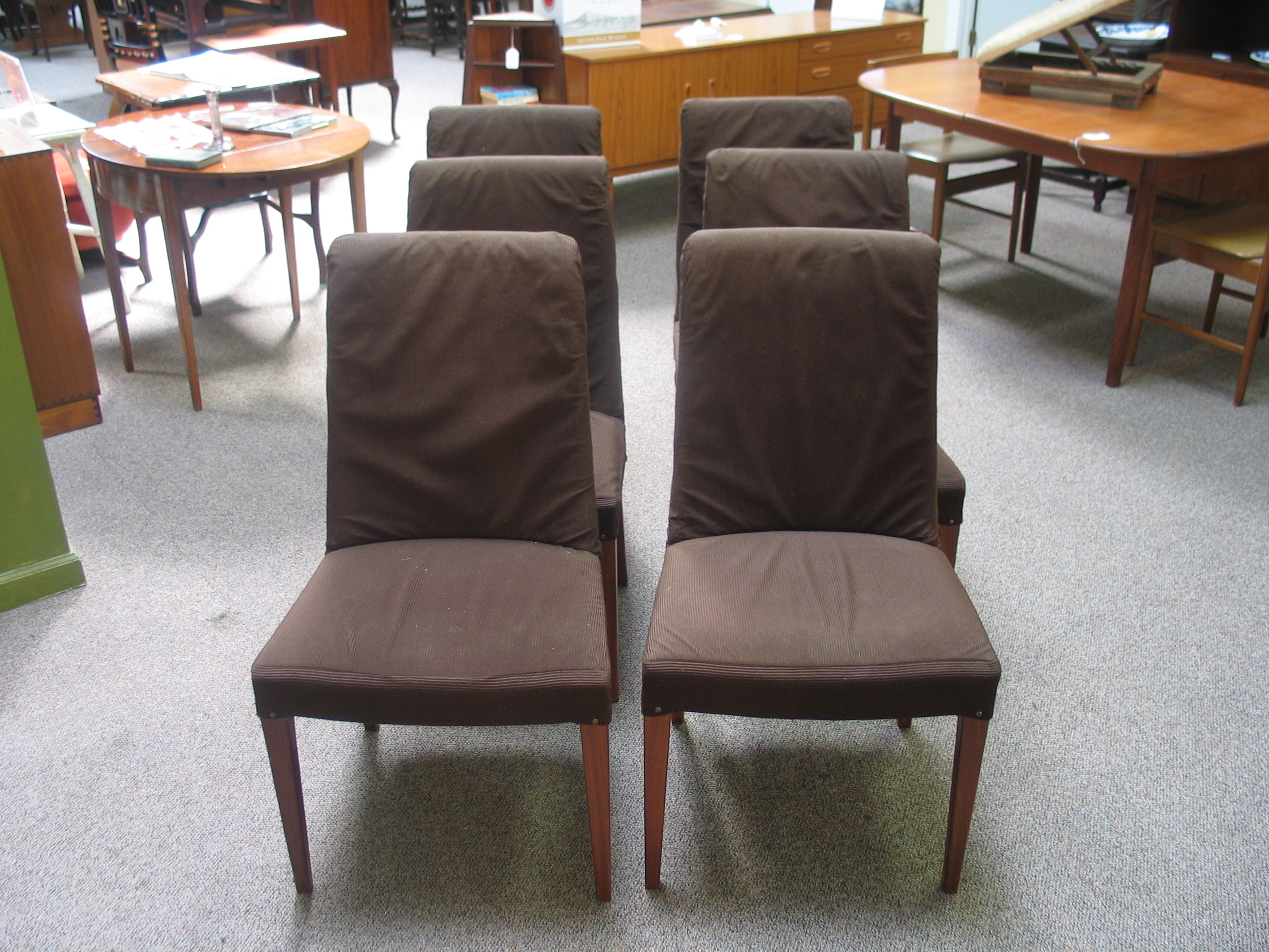 l419 Set of 6 Teak Vintage Chairs