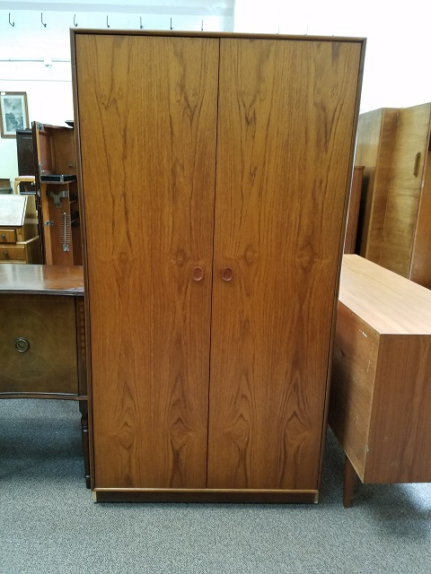 Item #M143 Teak Double Door Armoire c.1960s