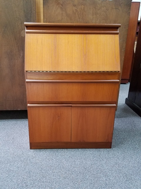 Item #M2243 Teak Bureau / Drop Front Desk c.1970s
