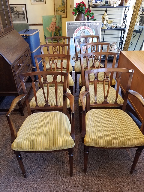 Item #M2246 Set of Eight Mahogany Dining Chairs c.1950s