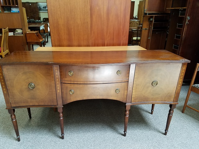 Item #M2290 Traditional Mahogany Console c.1950s