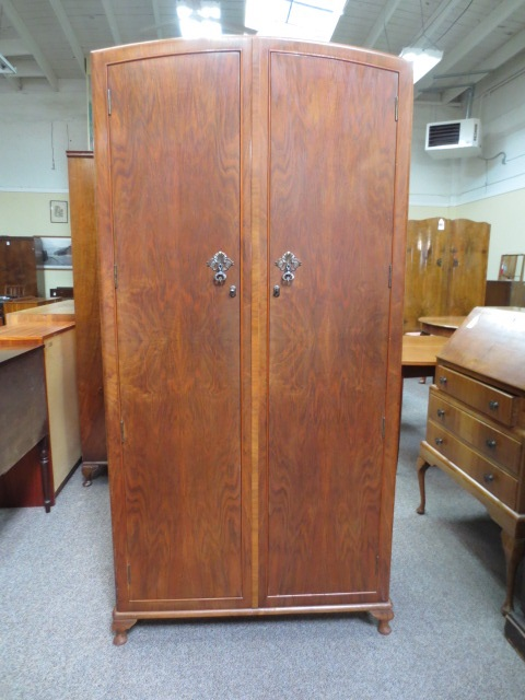 Item #M308 Vintage Fitted Armoire c.1930s