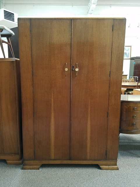 Item #M539 Deco Oak Armoire c.1920s