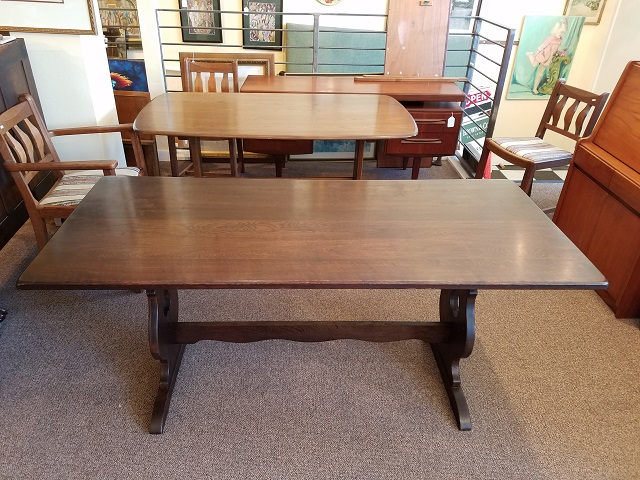 Item #M977 English Oak Refectory Table c.1920s
