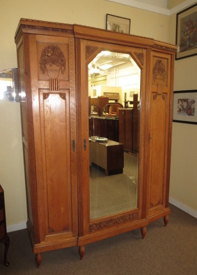 EN1 French Armoire Mirror Door c. 1940
