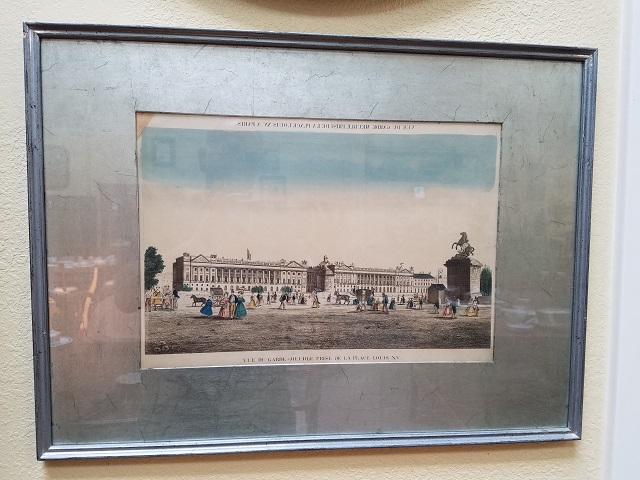 Item #KC5 Antique Hand Colored French Engraving 19th Century