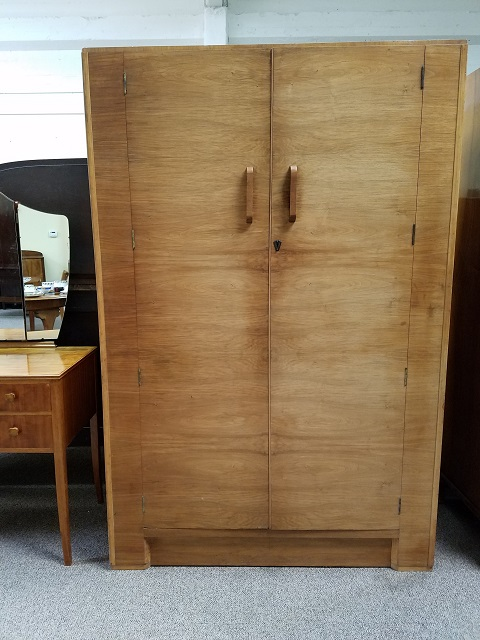 Item #M2212 Deco Walnut Double Door Armoire c.1930s