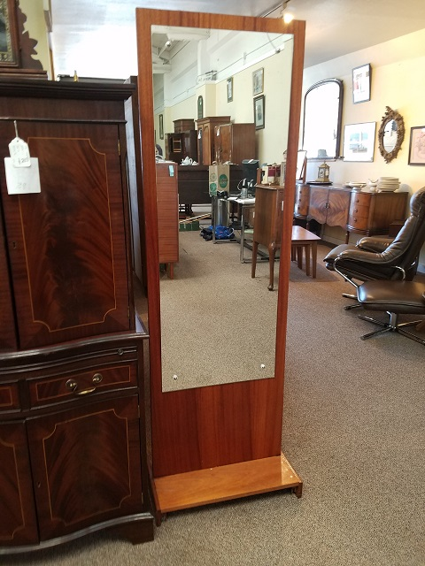 Item #M76 Vintage Free Standing Full Length Mirror c.1960s