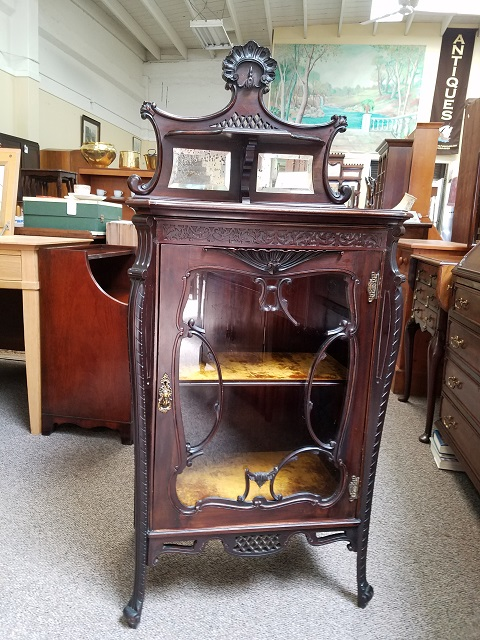Item #F29 Victorian Mahogany Display Cabinet c.1890