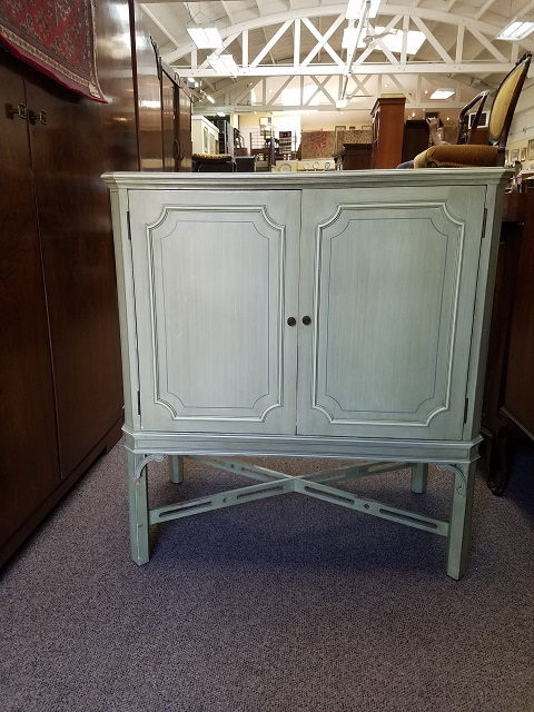 Item #F365 Vintage Painted Cabinet c.1940s