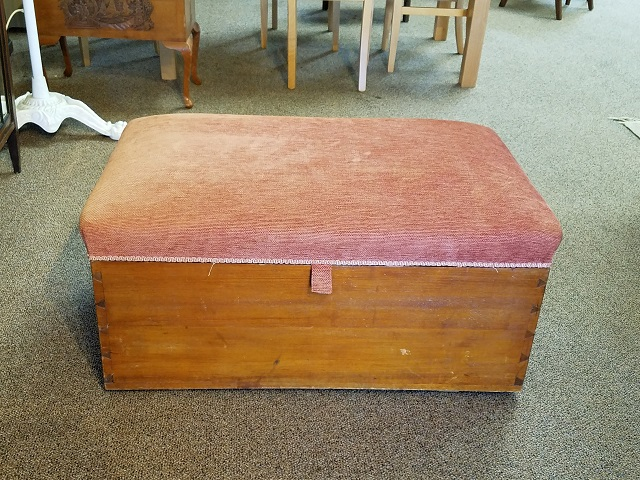 Item #F605 Antique Cedar Chest / Ottoman c.1900