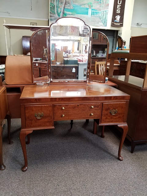 Item #F125a Mahogany Knee Hole Dressing Table c.1930s