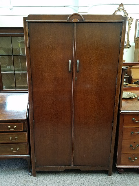 Item #F158 English Oak Deco Armoire c.1920s