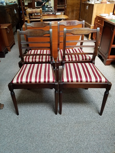 Item #F1735 Set of Five Mahogany Dining Chairs c.1950s