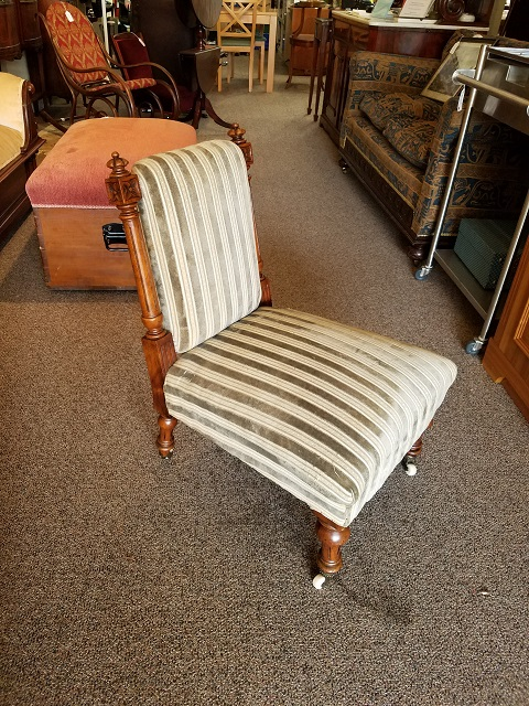 Item #F247 Mahogany Parlor Chair c.1880s
