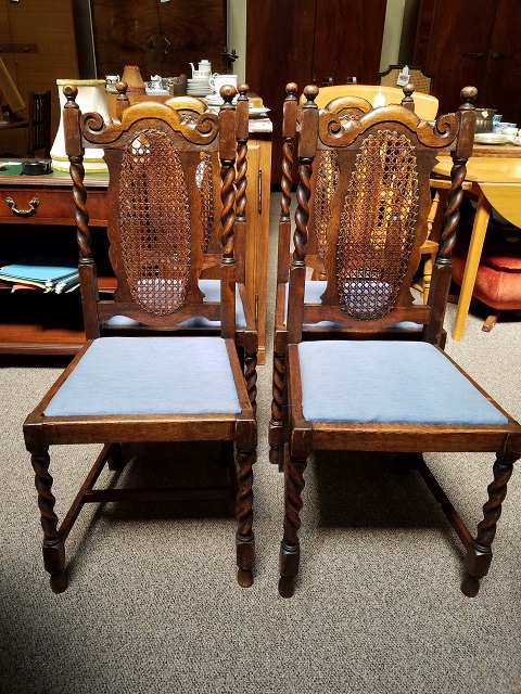 Item #F33 Set of Four Oak Dining Chairs c.1920s