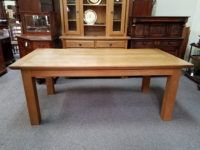 Item #F635 Large Oak Library Table