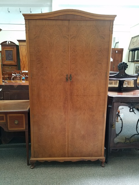 Item #F852 Walnut Fitted Armoire c.1950s