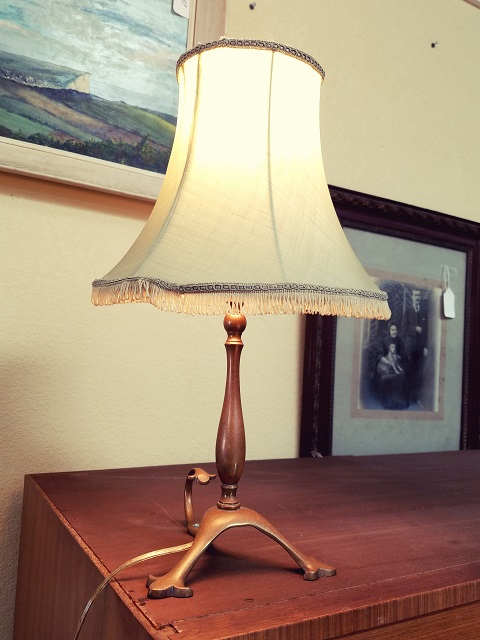 Item #F20 Brass Convertible Table Lamp / Wall Sconce c.1940s