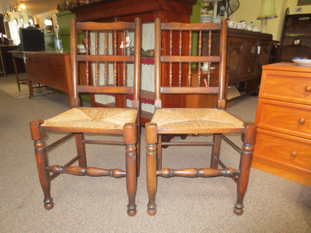 F230 Pair Oak Chairs