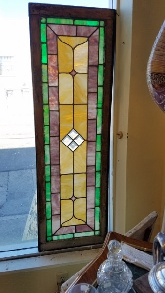 "Item #CW1 Late 19th Century ""Prairie"" Stained Glass"