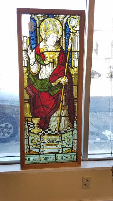 "Item #CW2 Antique ""Richard Augustine"" Stained Glass c.1890"