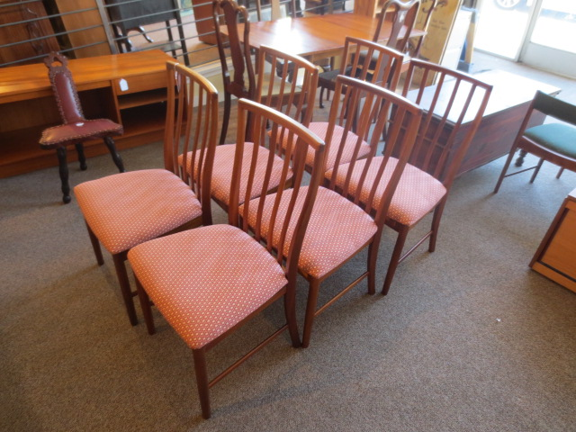 N53 Set of Six Teak Dining Chairs