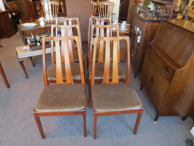 N2500 Rosewood Mid-Century Chairs – Set of Six