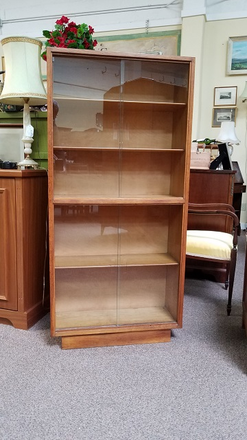 Item #N2423B Custom English Oak Bookcase c.1920s