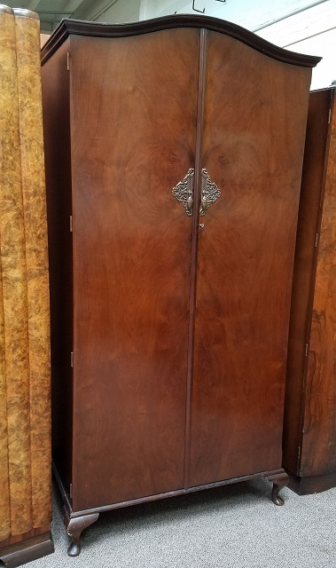 Item #N2443 Vintage Walnut Armoire w/ Fitted Interior c.1940s