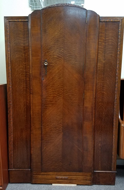 Item #N43 English Oak Single Door Armoire c.1920s