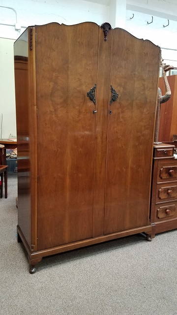 Item #N67 Walnut Double Door Armoire C.1940s