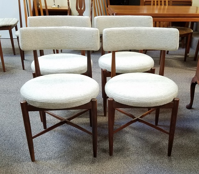 "Item #N96 Set of Four ""G-Plan"" Rosewood Dining Chairs c.1960s"