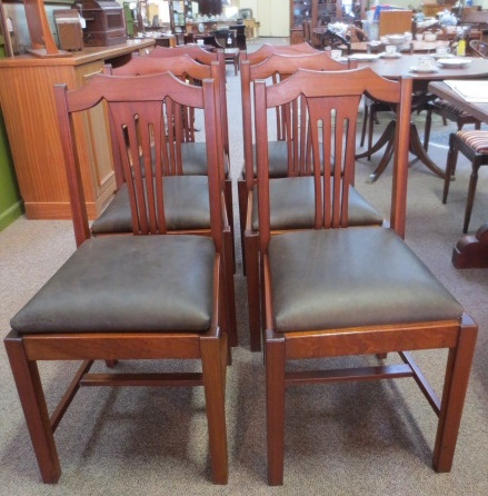 F254 Set of SIX Mahogany Dining Chairs c.1920's