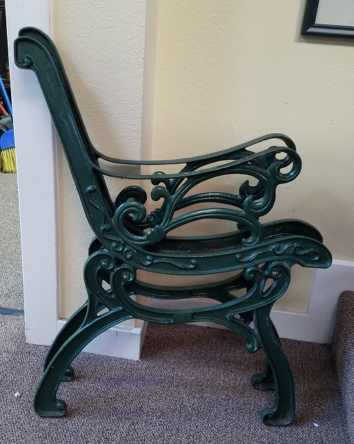 Item #F391 Pair of Painted Victorian Cast Iron Bench Ends c.1900