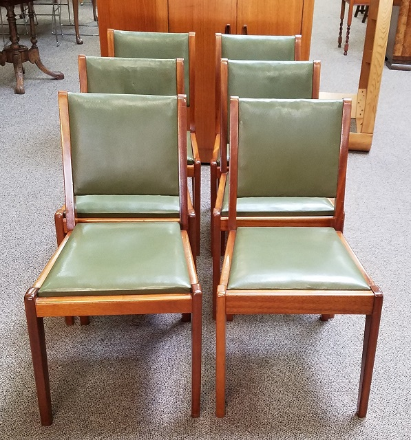 Item #N2470 Set Of Six Mahogany Dining Chairs C.1950s