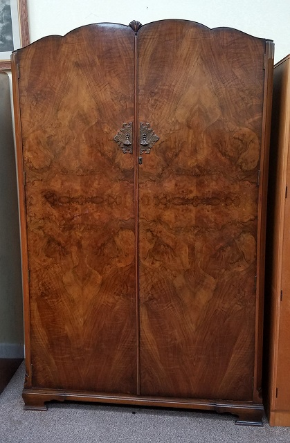 Item #N2481 Walnut Double Door Armoire c.1940s