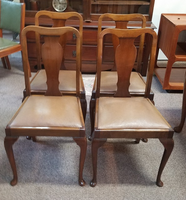 Item #N93 Set of Four Mahogany Dining Chairs c.1940s