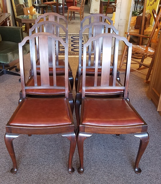 Item #SM1 Set of Six Mahogany Dining Chairs c.1940s