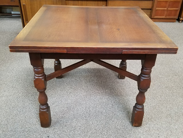 Item #N2478 Vintage Oak Draw Leaf Dining Table C.1940s
