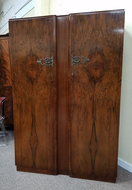 Item #O2383 Walnut Double Door Armoire C.1940s