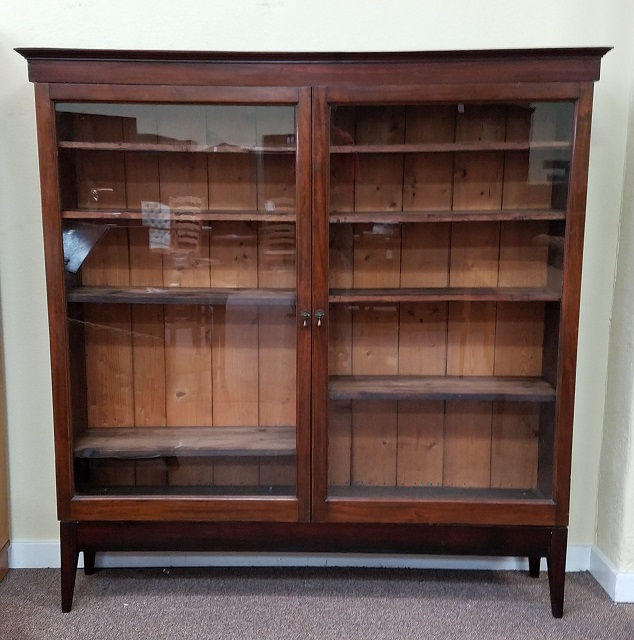 Charming Item #DX6 Antique Mahogany Bookcase W/ Glass Doors C.1910